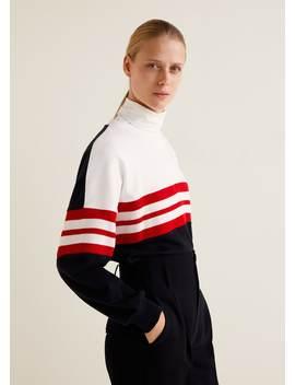 Sweat Shirt Coton à Rayures by Mango