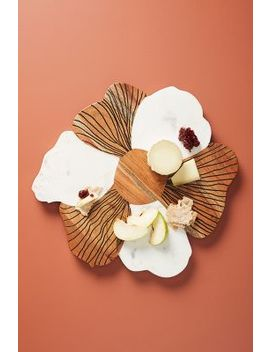 Handmade Bloom Cheese Board by Anthropologie