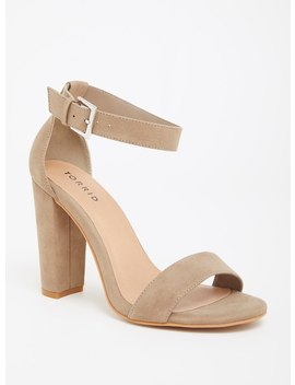 Taupe Ankle Strap Sandal (Wide Width) by Torrid