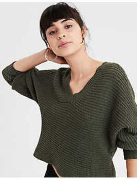Ae Cropped Chenille Pullover Sweater by American Eagle Outfitters