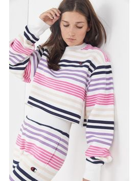 Champion & Uo Striped Cropped Sweatshirt by Champion