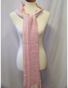 Juicy Couture Pink And Cream Cashmere Scarf by Juicy Couture