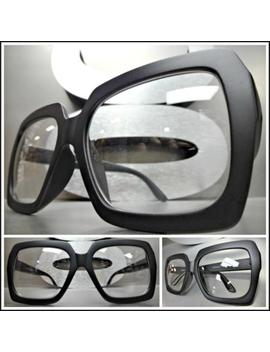 New Oversized Exaggerated Retro Style Clear Lens Eye Glasses Huge Xl Black Frame by Spexx Eyewear