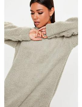 Stone Borg Crew Neck Sweat Dress by Missguided