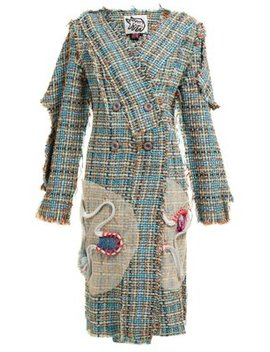 Floral Embellished Tweed Coat by Matty Bovan