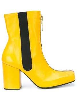 Charles Jeffrey Loverboyfront Zip Heel Bootshome Men Charles Jeffrey Loverboy Shoes Boots by Charles Jeffrey Loverboy