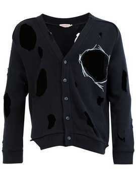 Charles Jeffrey Loverboydistressed Buttoned Cardiganhome Men Charles Jeffrey Loverboy Clothing Cardigans by Charles Jeffrey Loverboy