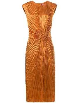Sies Marjanpleated Swirl Dresshome Women Sies Marjan Clothing Cocktail & Party Dresses by Sies Marjan
