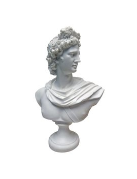 Design Toscano Apollo Belvedere Bust Statue, 30 Cm, Bonded Marble Polyresin, White by Design Toscano