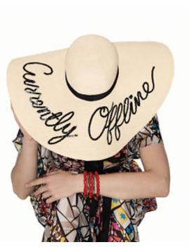 "Eugenia Kim Sunny ""Currently Offline"" Sequin Wide Brim Beach Sun Hat by Eugenia Kim"