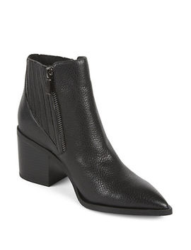 Cue Up Leather Gore Point Toe Booties by Kenneth Cole Reaction