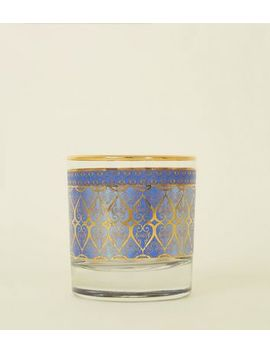 Blue Tile Print Tumbler Glass by New Look