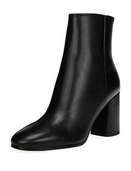 Robyn Leather Block Heel Boots by Diane Von Furstenberg