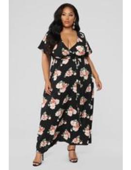 Water Me Floral Dress   Black by Fashion Nova