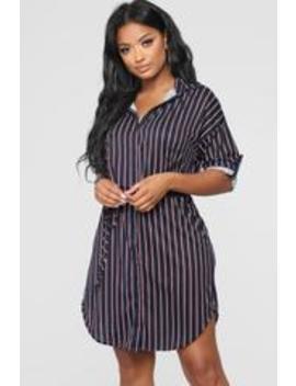 Mrs. Right Stripe Dress   Teal by Fashion Nova