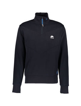 Navy Simeoni Quarter Zip Pullover by Ellesse