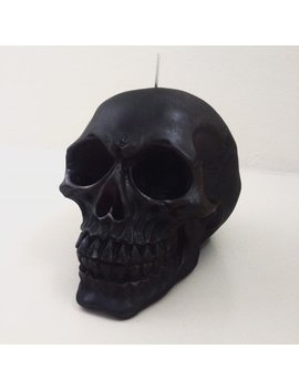 Matte Black Skull Candle   Soy Wax Candle   Vegan Candle   Choose From 20 Scents! Skull Decor/ Skull Gift / Monochrome / Gothic / Halloween by Ember Candle Co