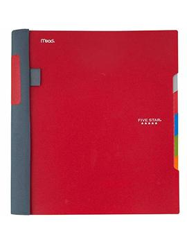 "Five Star Advance Spiral Notebook, 5 Subject, College Ruled Paper, 200 Sheets, 11"" X 8 1/2"", Red (73146) by Five Star"