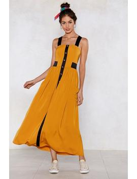 Button The Lookout Maxi Dress by Nasty Gal