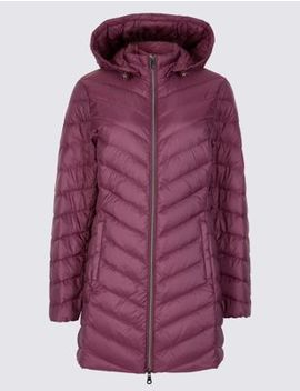 Petite Down & Feather Coat With Stormwear™ by Marks & Spencer