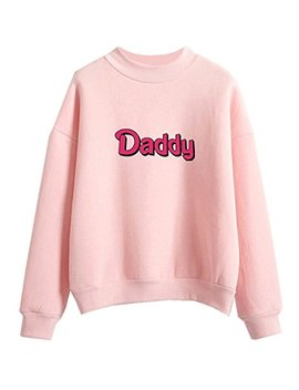 Fashiononly Fashion Women Sweatshirts Kawaii Pastel Daddy Print Harajuku Pullover Clothes T Shirt by Fashiononly