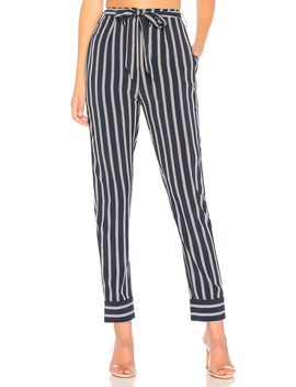 Nelly Pinstripe Belted Pants by By The Way.