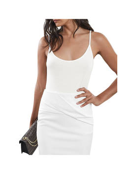 Reiss Samellia Jersey Cami Top, Ivory by Reiss