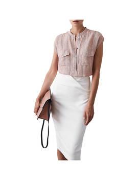 Reiss Arabella Static Print Blouse, Pink by Reiss