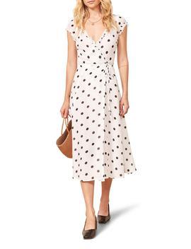 Gwenyth Polka Dot Wrap Dress by Reformation