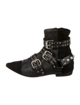 Isabel Marant Grommet Cap Toe Ankle Boots by Isabel Marant