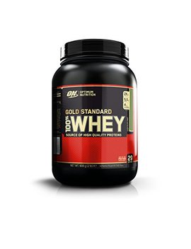 Optimum Nutrition Gold Standard Whey Protein Powder With Glutamine And Amino Acids. Protein Shake By On   Chocolate Mint, 28 Servings, 908g by Optimum Nutrition