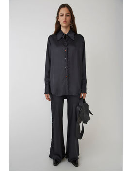 Flared Trousers Navy/Blue by Acne Studios