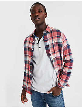 Ae Plaid Flannel Work Shirt by American Eagle Outfitters
