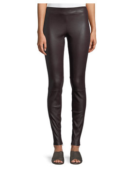 Ankle Zip Lamb Leather Leggings by Vince