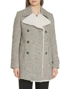 Kinsley Faux Shearling Tweed Coat by Tory Burch