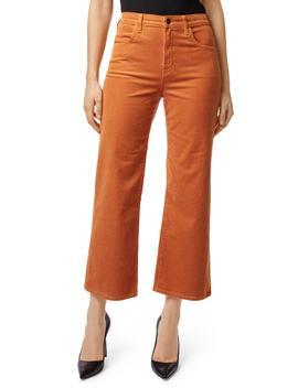 Joan High Waist Corduroy Crop Flare Jeans by J Brand