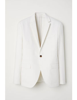 Linen Blend Jacket Slim Fit by H&M