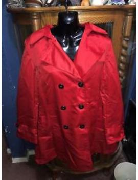 Ebza Red Hooded Womens Trench Coat Size: X Large  New With Tags by Ebza