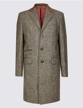 Pure Wool Overcoat by Marks & Spencer