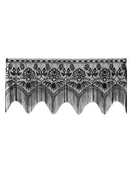 Heritage Lace Gothic Black Lace Halloween Gala 4 Way, Mantle Scarf, Lampshade Topper, Window by Heritage Lace