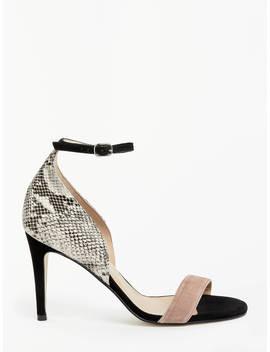 John Lewis & Partners Bianca Stiletto Heel Sandals, Snake Leather by John Lewis &Amp; Partners