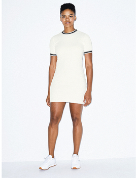 Thick Rib Rib Crewneck Dress by American Apparel