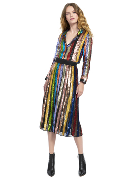 Tianna High Waisted Sequin Skirt by Alice And Olivia