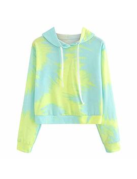 Clearance Women Hoodies Sweatshirt Color Patchwork Cute Long Sleeve Shirt Pullover Tops Sweaters Blouse by Ghazzi