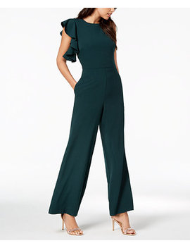 Asymmetrical Flutter Sleeve Jumpsuit by Julia Jordan