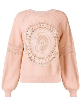 Chloélace Bell Sleeve Sweaterhome Women Chloéclothing Knitted Sweaters by Chloé