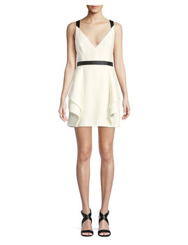 Sleeveless Mini Dress W/ Dramatic Skirt by Halston Heritage