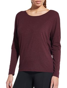 Calia By Carrie Underwood Women's Heather Split Back Dolman Long Sleeve Shirt by Calia By Carrie Underwood