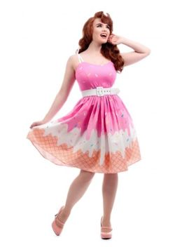 Jade Ice Cream Swing Dress By Collectif 10 by Ebay Seller