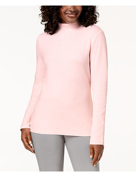Cotton Mock Neck Top, Created For Macy's by Karen Scott